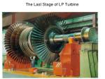 the last stage of lp turbine
