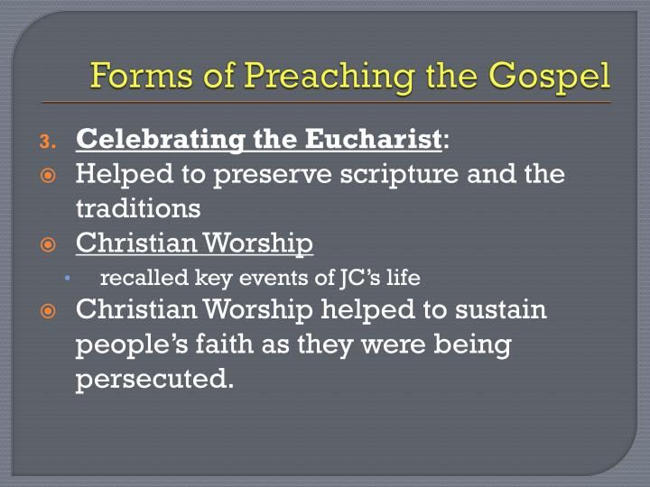 Forms of Preaching the Gospel