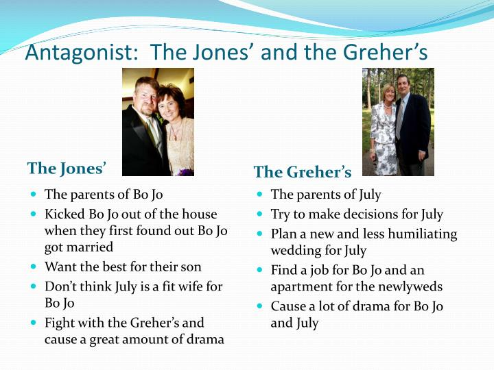 Antagonist:  The Jones' and the
