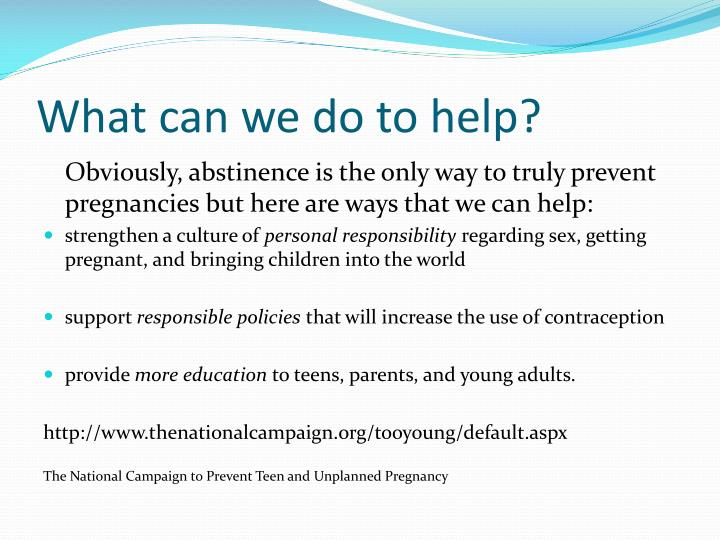 What can we do to help?