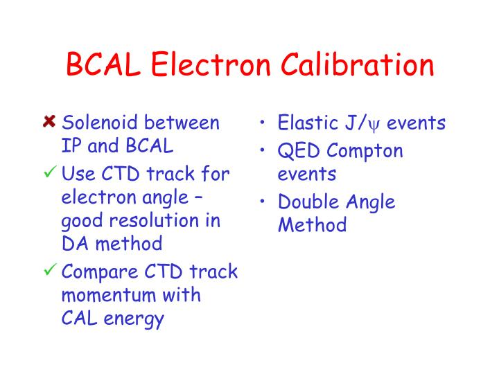 Solenoid between IP and BCAL