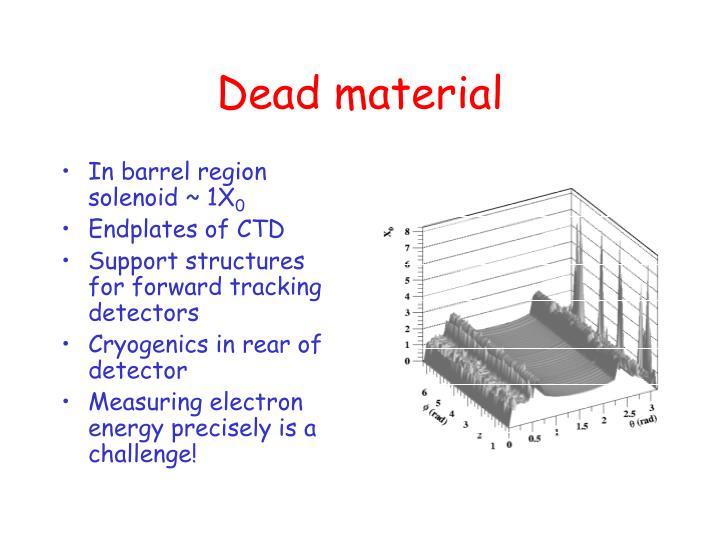 In barrel region solenoid ~ 1X