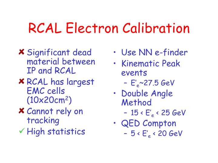 Significant dead material between IP and RCAL