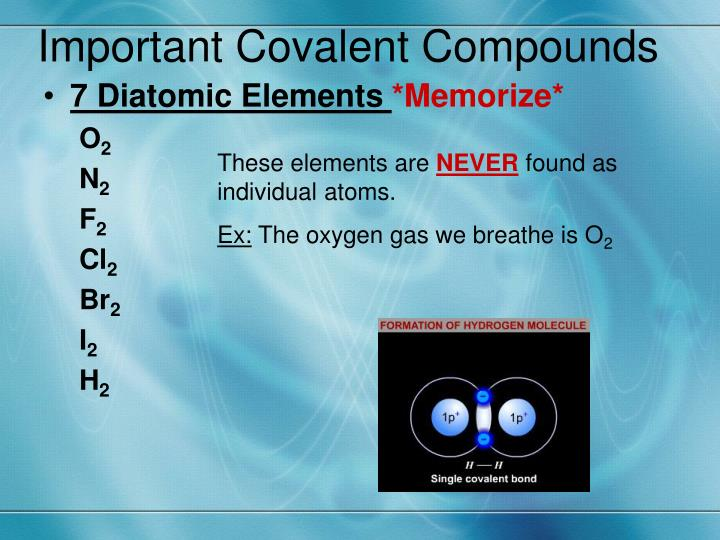 Important Covalent Compounds