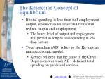 the keynesian concept of equilibrium1