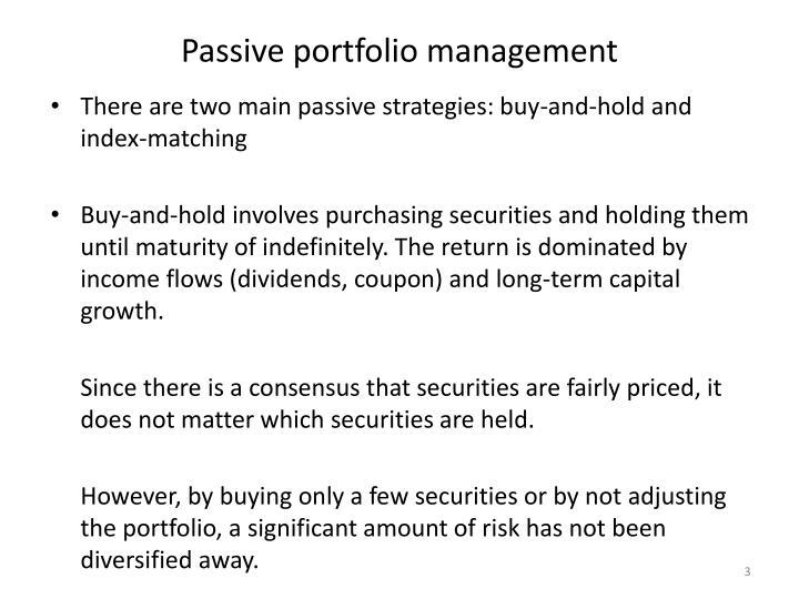 Passive portfolio management