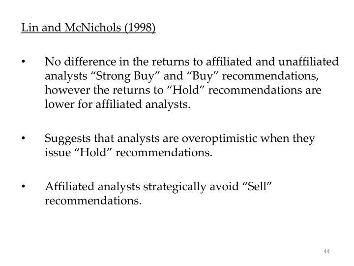 Lin and McNichols (1998)