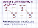 exploiting decomposability in local search