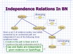 independence relations in bn1