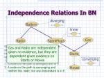independence relations in bn3