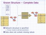 known structure complete data