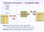 unknown structure complete data