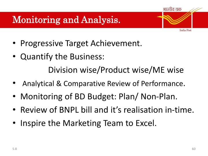 Monitoring and Analysis.