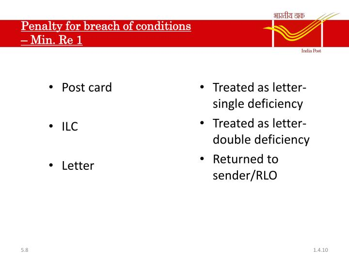 Penalty for breach of conditions