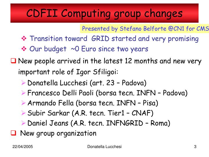 Cdfii computing group changes1
