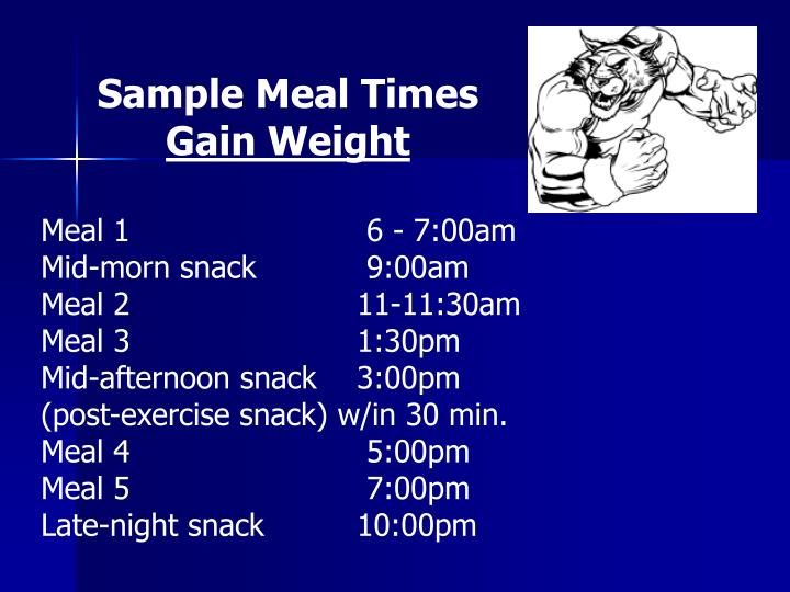 Sample Meal Times