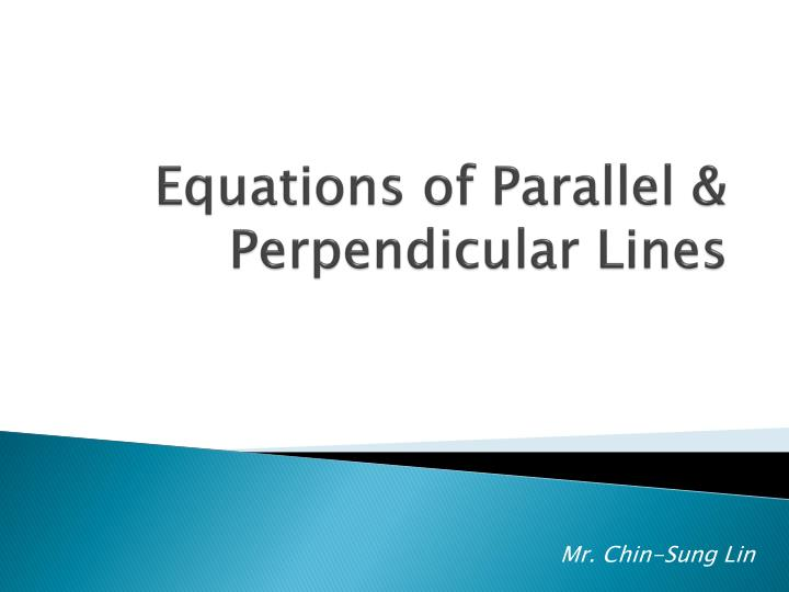 Equations of