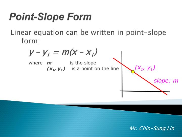 Linear equation can be written in