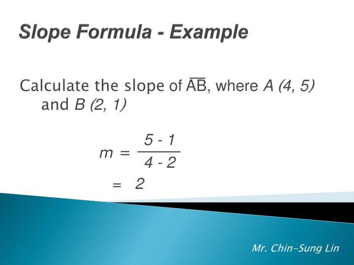 Slope Formula - Example