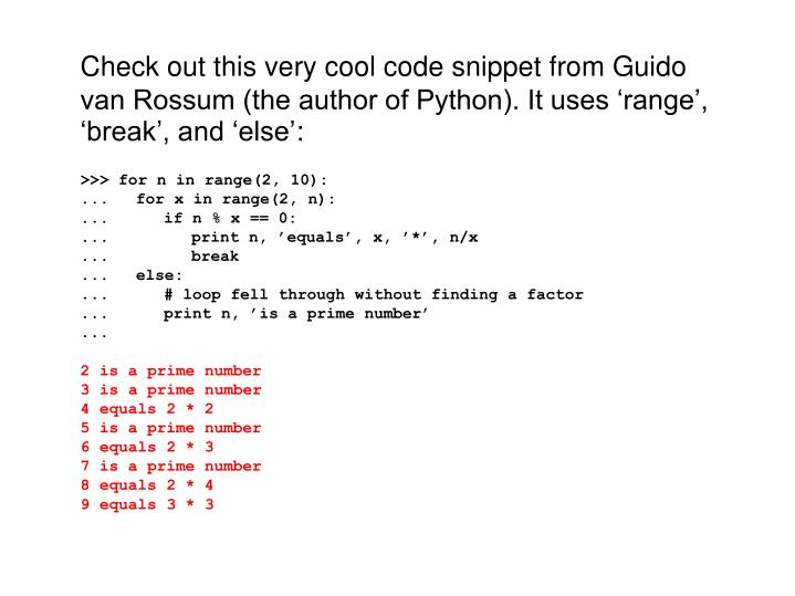 Check out this very cool code snippet from Guido