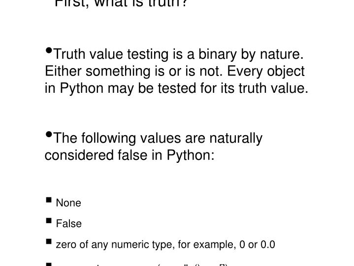 First, what is truth?