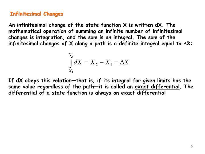 Infinitesimal Changes