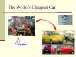 the world s cheapest car