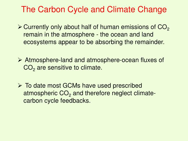 Currently only about half of human emissions of CO