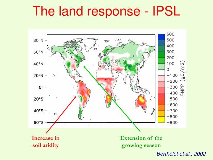 The land response - IPSL