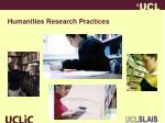 humanities research practices