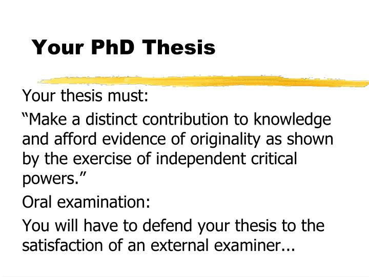 investigating phd thesis examination reports If the same examiners are appointed to examine the revised thesis, a second oral examination may not be required examiners' reports the examiners' reports will be made available to you when you are informed by the student registry of the outcome of the examination.