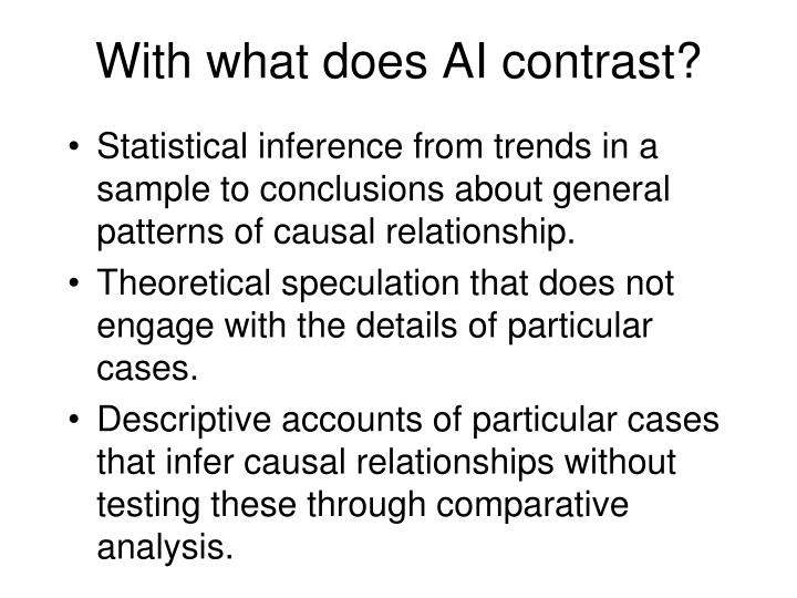 With what does AI contrast?