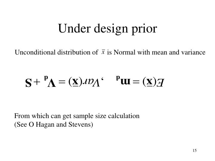 Under design prior