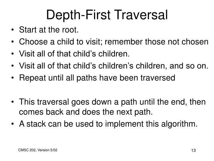 Depth-First Traversal