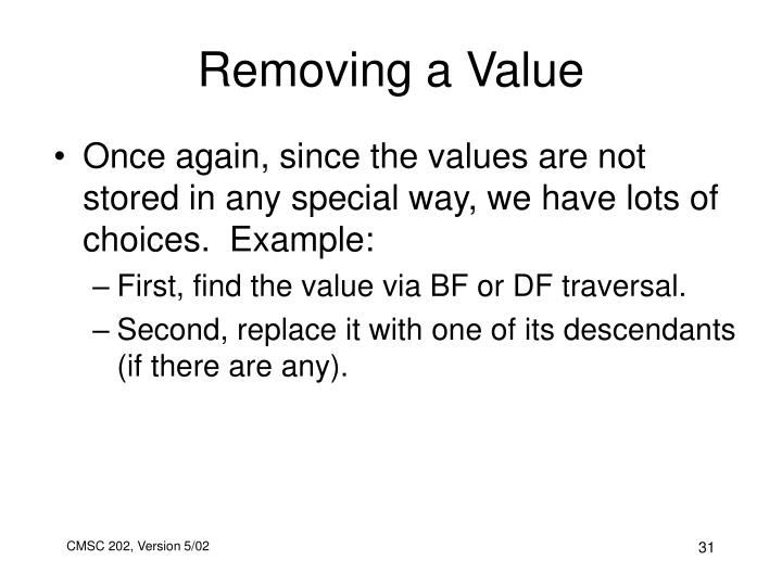 Removing a Value