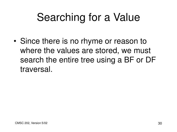 Searching for a Value