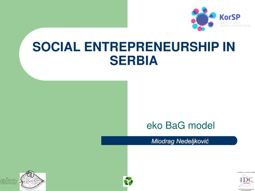 PPT - SOCIAL ENTREPRENEURSHIP IN SERBIA PowerPoint