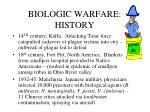 biologic warfare history