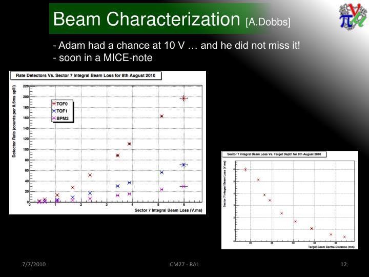 Beam Characterization