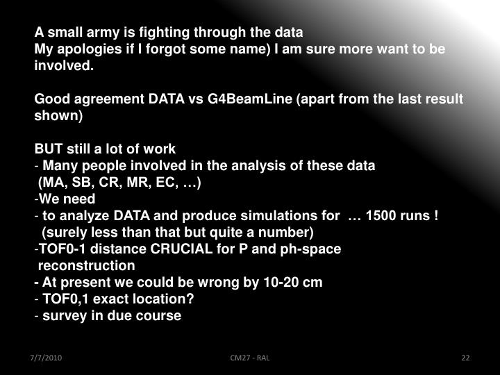 A small army is fighting through the data