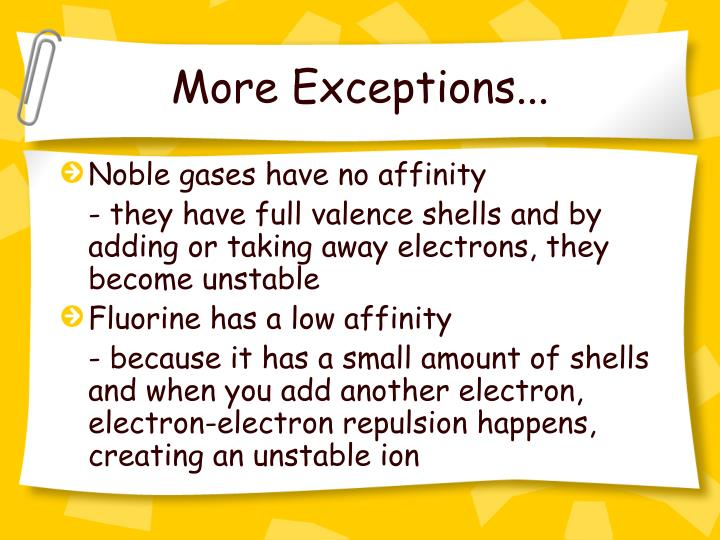 More Exceptions...