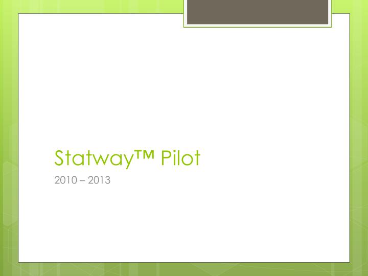 Statway™ Pilot