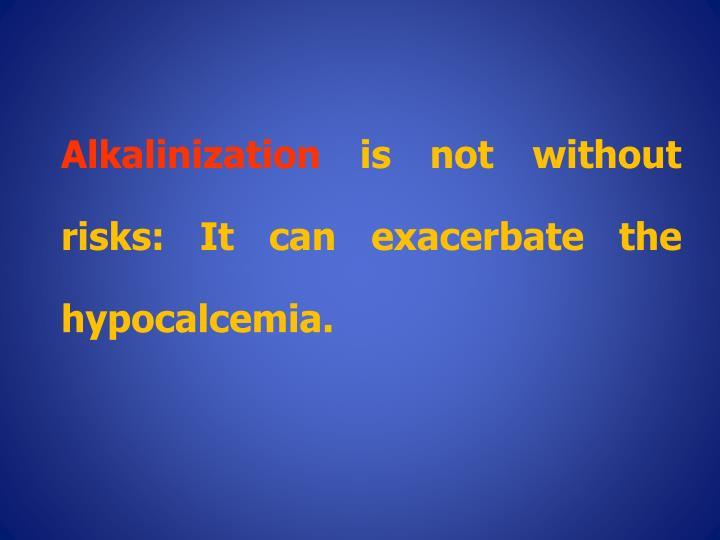 Alkalinization