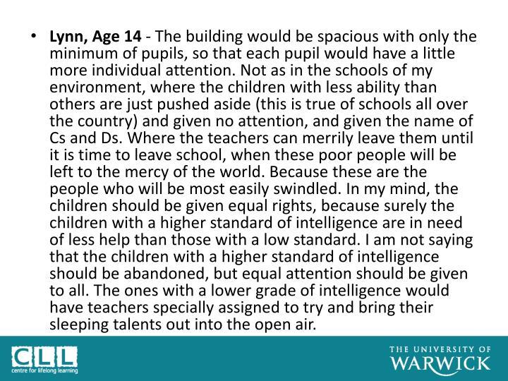 Lynn, Age 14
