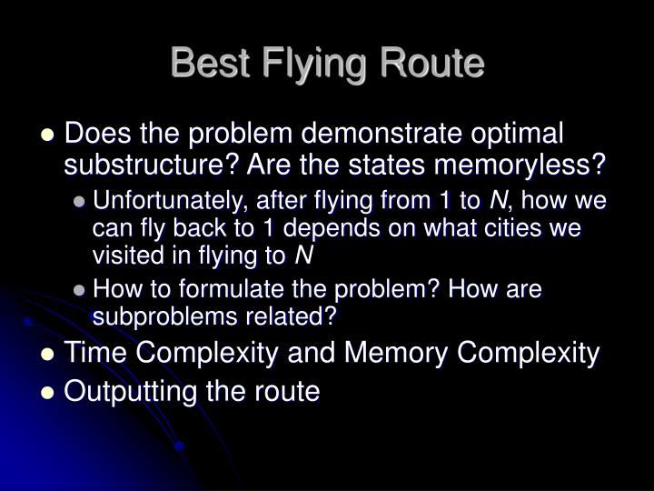 Best Flying Route
