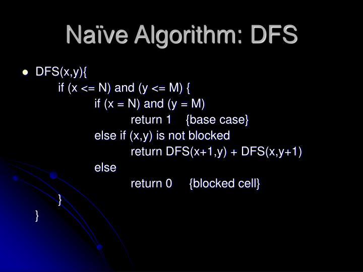 Naïve Algorithm: DFS