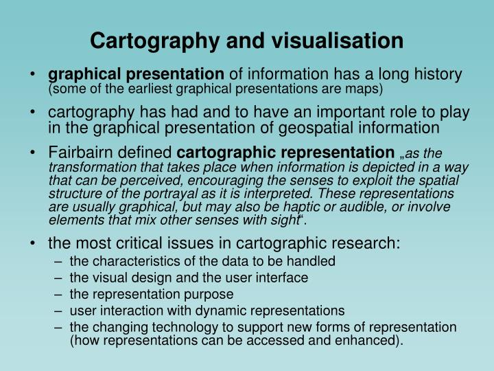 Cartography and visualisation