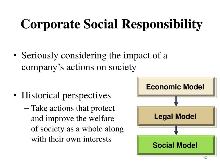 corporate social responsibility from a historical perspective
