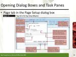 opening dialog boxes and task panes1