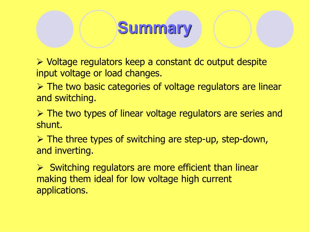 Difference Between Series And Shunt Voltage Regulator
